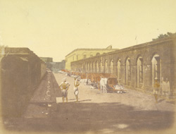 Enterior [sic] of Fort William (stables), Calcutta